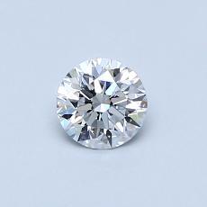 0.40-Carat Round Diamond Ideal D VVS1