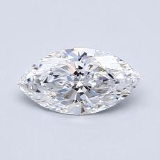 推薦鑽石 #2: 0.58  克拉欖尖形切割鑽石