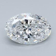 2.01-Carat Oval Diamond Very Good D VS2