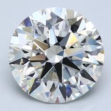 4.21-Carat Round Diamond Ideal I VS2