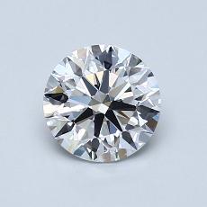 0.90-Carat Round Diamond Ideal D FL