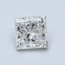 Pierre recommandée n°2: Diamant taille princesse 1,01 carat