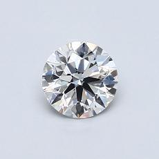 0.52-Carat Round Diamond Ideal D VS1
