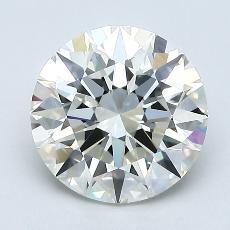 目前的寶石: 1.71  克拉圓形切割