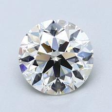 1,50-Carat Round Diamond Ideal K VVS2