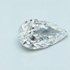 1,01-Carat Pear Diamond Very Good D VVS1