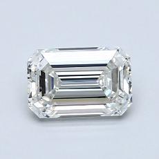 1,03 Carat Émeraude Diamond Très bonne H VVS1