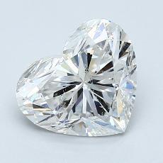 2.01-Carat Heart Diamond Very Good G SI2