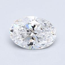 1.01 Carat 橢圓形 Diamond 非常好 D VVS1