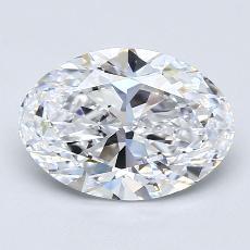 2.02 Carat 椭圆形 Diamond 非常好 D VS2