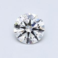 0,70 Carat Rond Diamond Idéale E IF