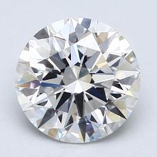 2.04 Carat 圆形 Diamond 理想 D FL