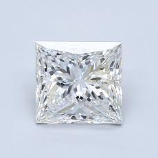 推荐宝石 3:1.06 克拉公主方形钻石