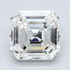 2.01-Carat Asscher Diamond Very Good H VS1