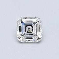 0,42-Carat Asscher Diamond Very Good F VVS1