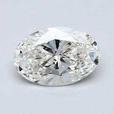 1,01 Carat Ovalado Diamond Muy buena I VVS1