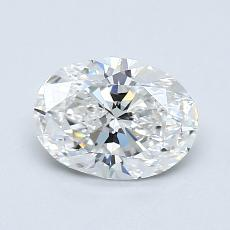 0.82-Carat Oval Diamond Very Good F VVS1