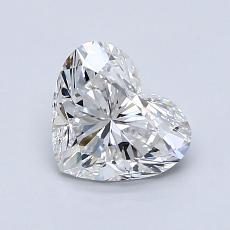 1.01 Carat 心形 Diamond 非常好 F VVS1
