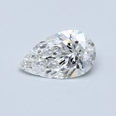 0.52-Carat Pear Diamond Very Good F VVS1