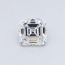 0.51 Carat Asscher Diamond Muy buena F IF