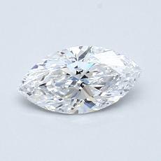 0.51-Carat Marquise Diamond Very Good D IF
