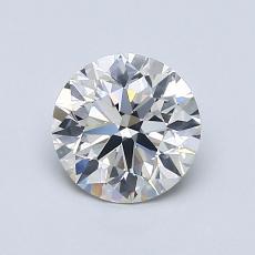 0.90-Carat Round Diamond Ideal H SI1