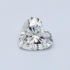 0,50 Carat Coeur Diamond Très bonne G VS2