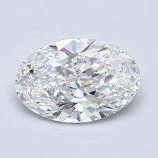 推薦鑽石 #3: 1.08  克拉橢圓形切割