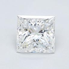 1.00-Carat Princess Diamond Very Good D VVS2