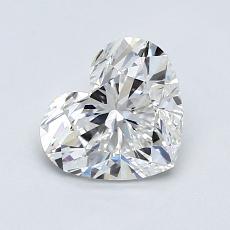 1.00-Carat Heart Diamond Very Good F VS2