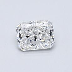0.50-Carat Radiant Diamond Very Good E VS1