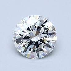 1,00-Carat Round Diamond Ideal F VVS2