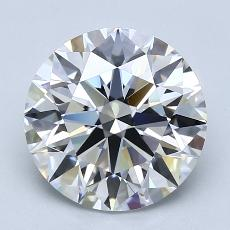 3.07-Carat Round Diamond Ideal D FL