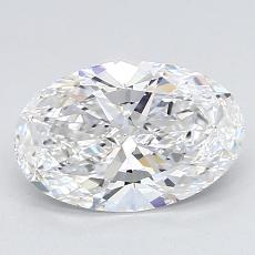 Piedra recomendada 4: con diamante Talla ovalada de 1.51 quilates