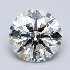 2.01-Carat Round Diamond Ideal I VS2