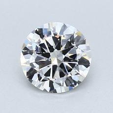 0.91 Carat 圆形 Diamond 良好 F SI1