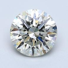 4.03-Carat Round Diamond Ideal K SI2
