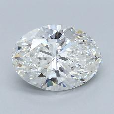 2.02 Carat 椭圆形 Diamond 非常好 G VS1