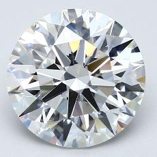 4.05-Carat Round Diamond Ideal E VVS2