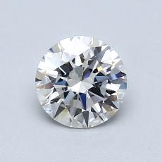 0.84-Carat Round Diamond Ideal D VVS1
