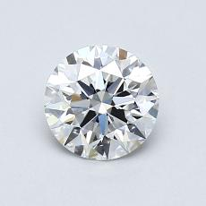 0.70-Carat Round Diamond Ideal E VVS2