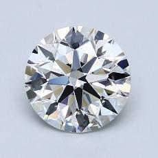 1.50 Carat 圆形 Diamond 理想 F VVS2