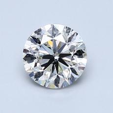 1.00 Carat 圆形 Diamond 良好 J SI2