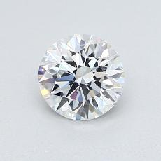0.77-Carat Round Diamond Ideal E FL