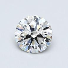 0.75-Carat Round Diamond Ideal G VVS1