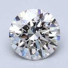2.01-Carat Round Diamond Ideal H VS1