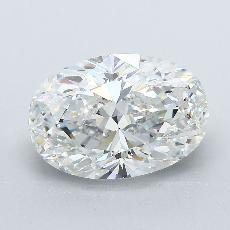 4.02-Carat Oval Diamond Very Good F VS2