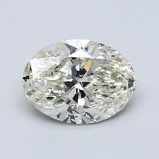 1.00 Carat 椭圆形 Diamond 非常好 K SI2