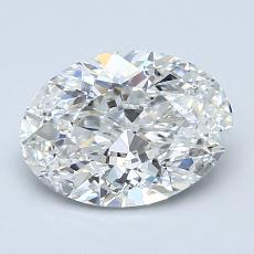 1.50 Carat 椭圆形 Diamond 非常好 G VS1