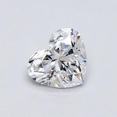 0.55-Carat Heart Diamond Very Good D IF